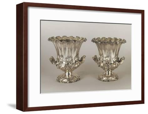 Pair of George Iv Style Silver Wine Coolers--Framed Art Print