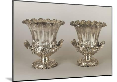 Pair of George Iv Style Silver Wine Coolers--Mounted Giclee Print