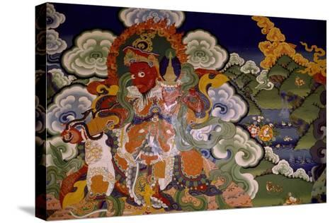 Mural Painting from Lamaist Monastery of Lamayuru, Laddakh, India--Stretched Canvas Print