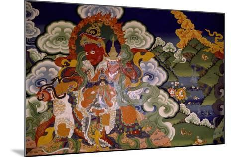 Mural Painting from Lamaist Monastery of Lamayuru, Laddakh, India--Mounted Giclee Print