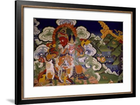 Mural Painting from Lamaist Monastery of Lamayuru, Laddakh, India--Framed Art Print