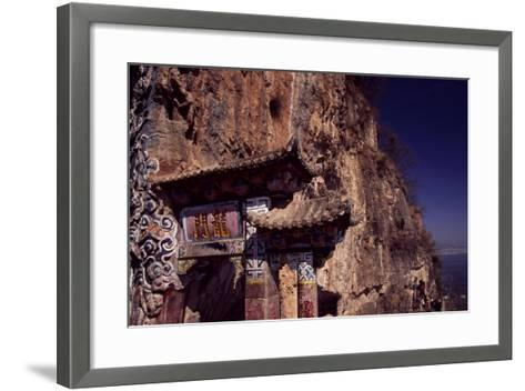 The Dragon Gate Near Kunming, Yunnan, China--Framed Art Print