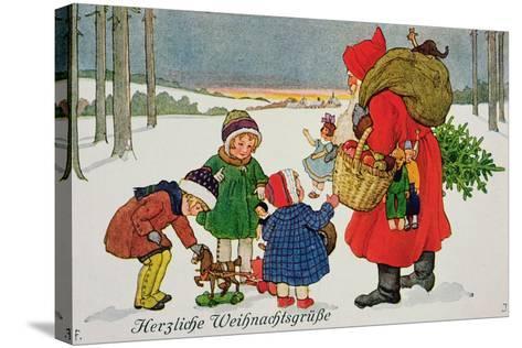 Herzliche Weihnachtsgrusse' Card--Stretched Canvas Print