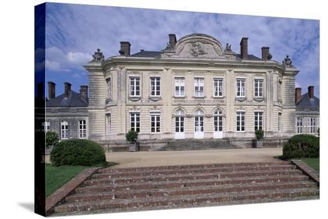 South Facade of Chateau De Craon, Pays De La Loire, Detail, France--Stretched Canvas Print