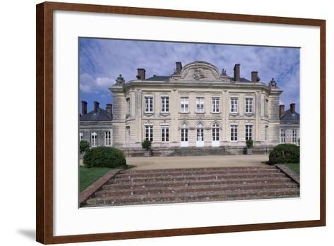South Facade of Chateau De Craon, Pays De La Loire, Detail, France--Framed Art Print