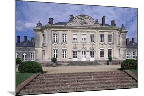 South Facade of Chateau De Craon, Pays De La Loire, Detail, France--Mounted Giclee Print