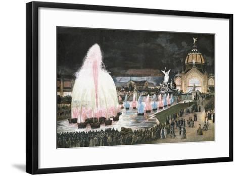 Illuminated Fountain for Paris World Exposition, 1889, France--Framed Art Print