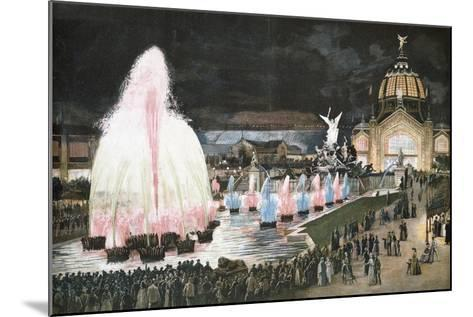 Illuminated Fountain for Paris World Exposition, 1889, France--Mounted Giclee Print