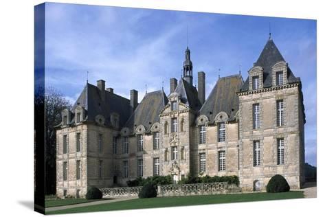 Facade of Chateau De Saint-Loup, Saint-Loup-Lamaire, Poitou-Charentes, France--Stretched Canvas Print