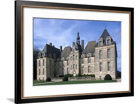 Facade of Chateau De Saint-Loup, Saint-Loup-Lamaire, Poitou-Charentes, France--Framed Art Print