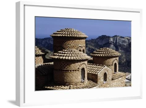 The Cattolica, 9th-10th Century Byzantine Church, Stilo, Calabria, Italy Detail of Cupola--Framed Art Print