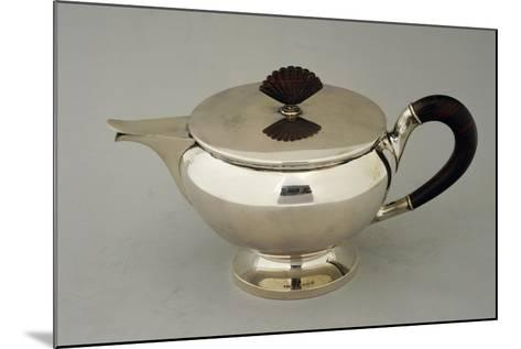 Silver Teapot, Design by Argenteria Fratelli Alignani, Approximately 1935--Mounted Giclee Print