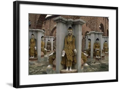 Myanmar, Amarapura, Kyauktawgyi Pagoda--Framed Art Print