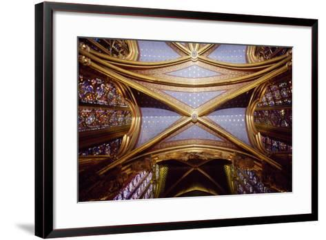 Cross Vaults of the Canopy, Upper Chapel of the Holy Chapel, Paris, Ile-De-France, France--Framed Art Print