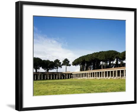 Italy, Pompeii, Great Gym--Framed Art Print