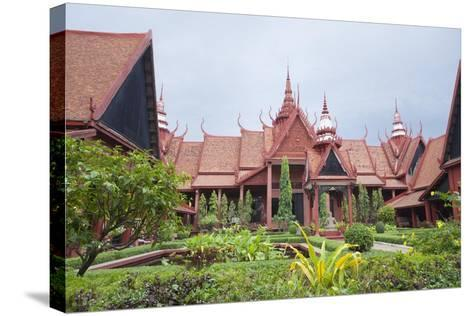 The Inner Courtyard of the National Museum in Phnom Penh, Cambodia--Stretched Canvas Print