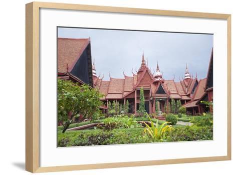 The Inner Courtyard of the National Museum in Phnom Penh, Cambodia--Framed Art Print
