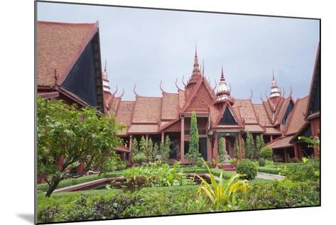 The Inner Courtyard of the National Museum in Phnom Penh, Cambodia--Mounted Giclee Print
