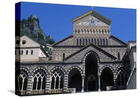 View of St Andrew's Cathedral, Amalfi, Campania, Italy--Stretched Canvas Print