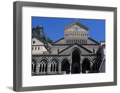 View of St Andrew's Cathedral, Amalfi, Campania, Italy--Framed Art Print