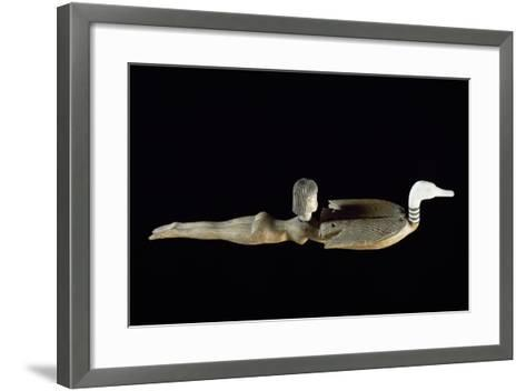 Cosmetics Spoon in the Shape of Swimmer, Ca 1400 BC--Framed Art Print