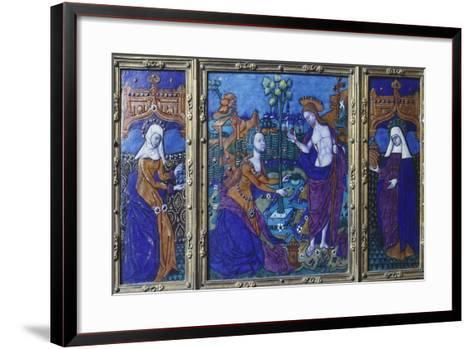 Triptych with Stories of Jesus, Enamel, 16th Century--Framed Art Print