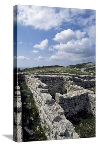 Archaeological Ruins of Monte Adranone, Sicily, Italy, Greco-Punic Civilization, 5th Century BC--Stretched Canvas Print