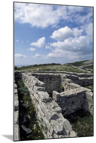 Archaeological Ruins of Monte Adranone, Sicily, Italy, Greco-Punic Civilization, 5th Century BC--Mounted Giclee Print