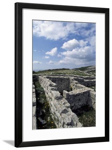 Archaeological Ruins of Monte Adranone, Sicily, Italy, Greco-Punic Civilization, 5th Century BC--Framed Art Print