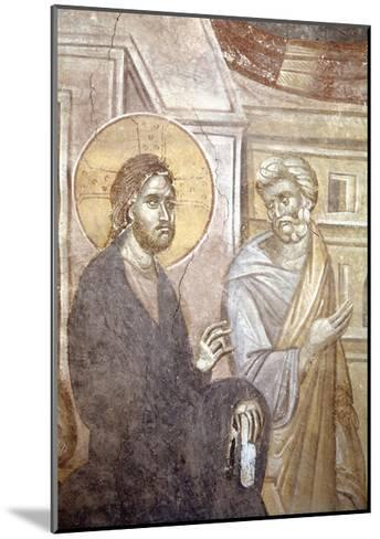Serbia, Kosovo, Pristina Portraying Christ and Saint Peter in Gracanica Monastery--Mounted Giclee Print