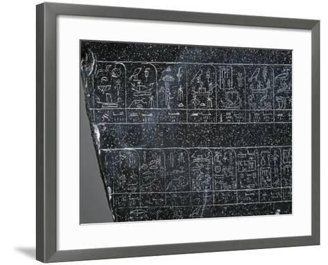 Detail of Ancient Egyptian Stele Inscribed on Both Sides with List of Ancient Egyptian Kings--Framed Art Print
