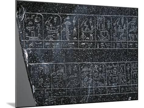 Detail of Ancient Egyptian Stele Inscribed on Both Sides with List of Ancient Egyptian Kings--Mounted Giclee Print