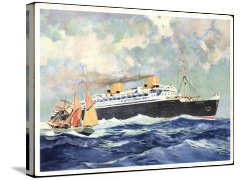 Turbinen Schnelldampfer Europa, Norddt. Lloyd--Stretched Canvas Print