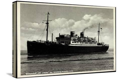 Motorschiff St Louis, Hapag, Dampfschiff in Fahrt--Stretched Canvas Print