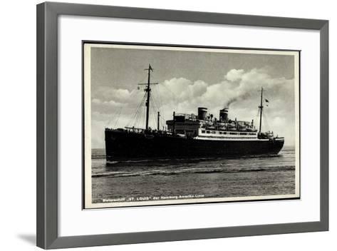 Motorschiff St Louis, Hapag, Dampfschiff in Fahrt--Framed Art Print
