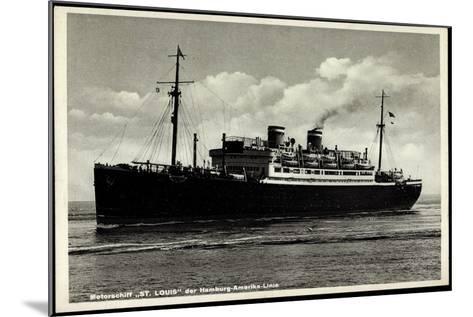 Motorschiff St Louis, Hapag, Dampfschiff in Fahrt--Mounted Giclee Print
