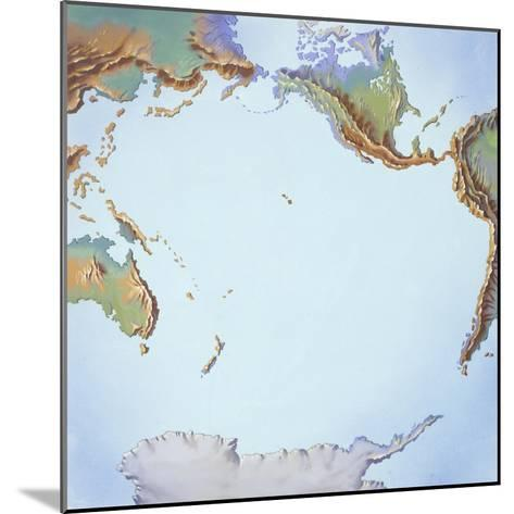 Tectonics Movements--Mounted Giclee Print