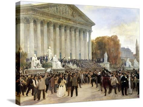 Proclamation of Third Republic in Paris, September 4, 1870, France--Stretched Canvas Print