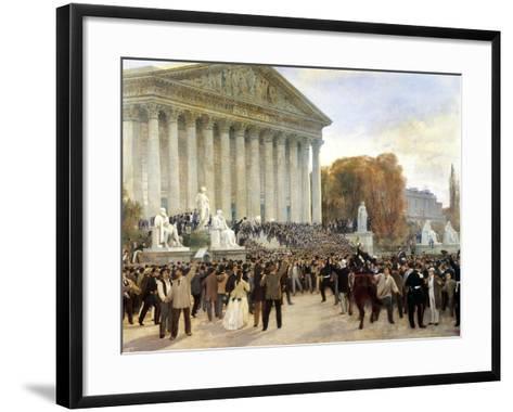 Proclamation of Third Republic in Paris, September 4, 1870, France--Framed Art Print