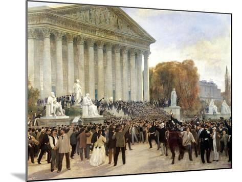 Proclamation of Third Republic in Paris, September 4, 1870, France--Mounted Giclee Print
