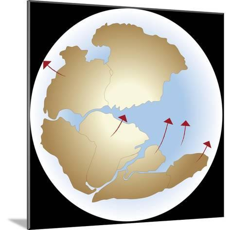 Diagram Showing Earths Continental Drift with Fragmented Pangea--Mounted Giclee Print