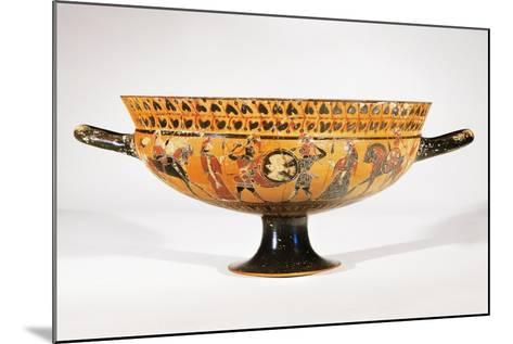 Attic Siana Cup Depicting Hoplite Warriors--Mounted Giclee Print