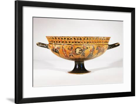 Attic Siana Cup Depicting Hoplite Warriors--Framed Art Print