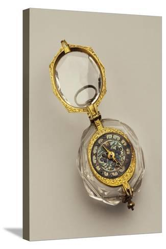 Open-Faced Pendant Watch, France--Stretched Canvas Print