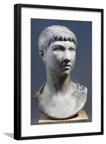 Head of Ptolemy King of Mauritania, Son of King Juba II--Framed Art Print