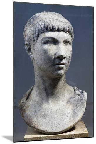 Head of Ptolemy King of Mauritania, Son of King Juba II--Mounted Giclee Print