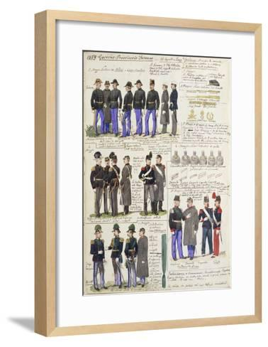 Uniforms and Badges of Provisional Government of Tuscany--Framed Art Print