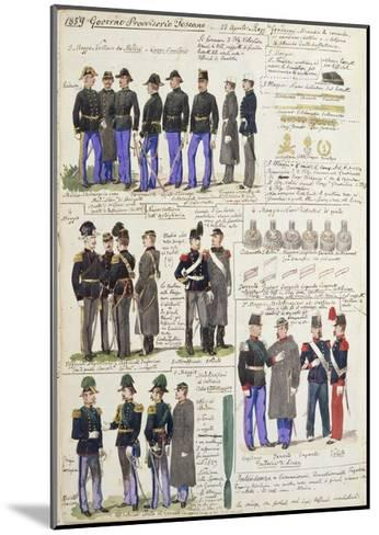 Uniforms and Badges of Provisional Government of Tuscany--Mounted Giclee Print
