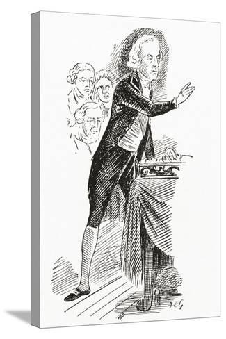 William Pitt the Younger Addressing the House of Commons, 1793--Stretched Canvas Print
