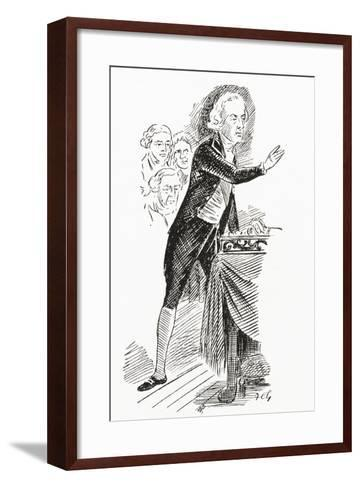 William Pitt the Younger Addressing the House of Commons, 1793--Framed Art Print